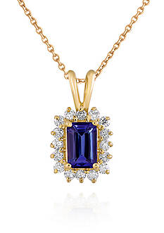 Belk & Co. 14k Gold Tanzanite and Diamond Pendant