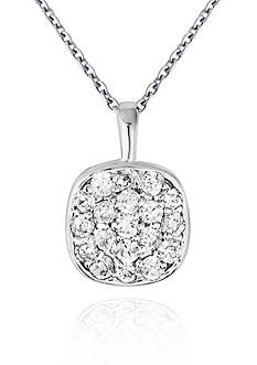 Belk & Co. Diamond Cluster Pendant in 14k White Gold