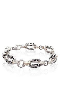 Belk & Co. Diamond Link Bracelet in Sterling Silver with 14k Yellow Gold