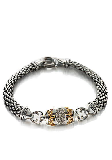 Belk & Co. Diamond Bracelet in Sterling Silver with 14k Yellow Gold