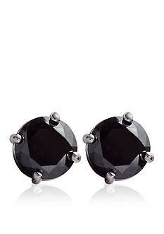 Belk & Co. 1.00 ct. t.w. Black Diamond Stud Earrings in 14k White Gold