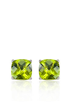 Belk & Co. 14k White Gold 6mm Peridot Stud Earrings