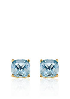 Belk & Co. 14k Yellow Gold 6mm Aquamarine Stud Earrings