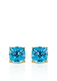 Belk & Co. 14k Yellow Gold 6mm Blue Topaz Stud Earrings