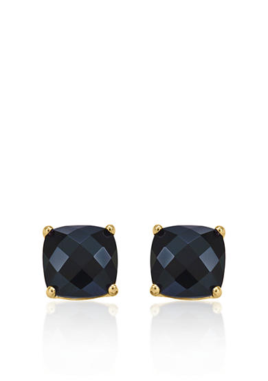 Belk & Co. 14k Yellow Gold 6mm Onyx Stud Earrings