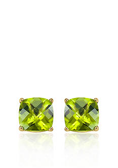 Belk & Co. 14k Yellow Gold 6mm Peridot Stud Earrings