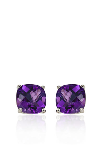 Belk & Co. 14k White Gold 8mm Amethyst Stud Earrings