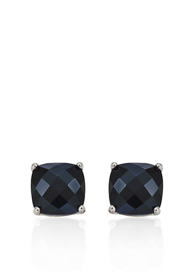Belk & Co. 14k White Gold 8mm Onyx Stud Earrings