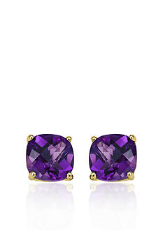 Belk & Co. 14k Yellow Gold 8mm Amethyst Stud Earrings