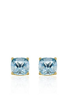 Belk & Co. 14k Yellow Gold 8mm Aquamarine Stud Earrings