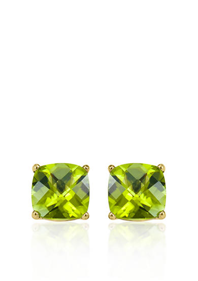 Belk & Co. 14k Yellow Gold 8mm Peridot Stud Earrings