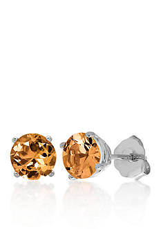 Belk & Co. 10k White Gold Citrine Stud Earrings
