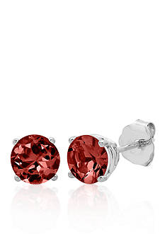 Belk & Co. 10k White Gold Garnet Stud Earrings