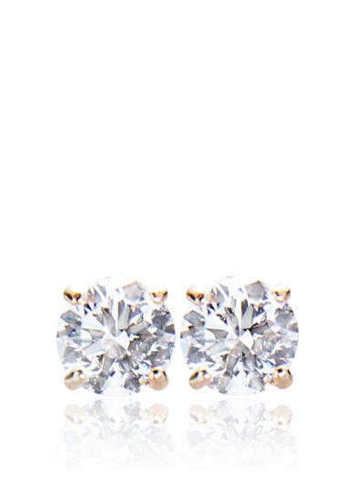 Belk & Co. 14k Yellow Gold 1.00 ct. t.w. Cubic Zirconia Earrings