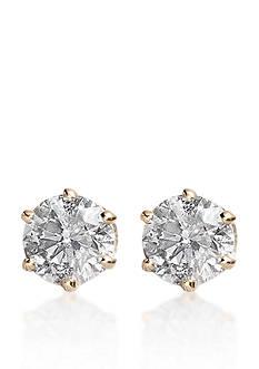 Belk & Co. 1/4 ct. t.w. Diamond Stud Earrings in 14k Yellow Gold