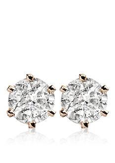 Belk & Co. 1.00 ct. t.w. Diamond Stud Earrings in 14k Yellow Gold