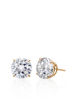 Belk & Co. 14k Yellow Gold 9mm Cubic Zirconia Stud Earrings