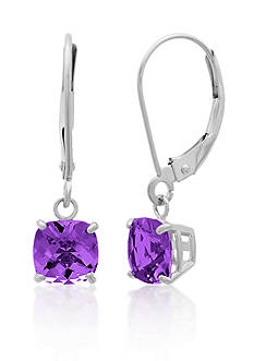 Belk & Co. 10k White Gold Amethyst Earrings