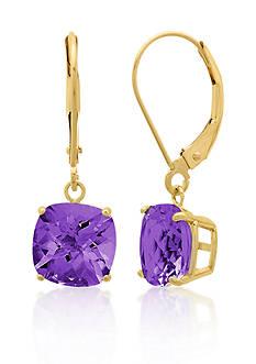Belk & Co. 10k Yellow Gold Amethyst Earrings
