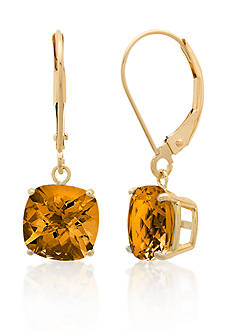 Belk & Co. 10k Yellow Gold Citrine Earrings