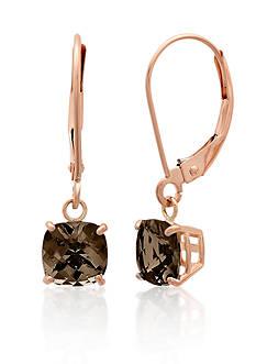Belk & Co. 10k Rose Gold Smokey Quartz Earrings