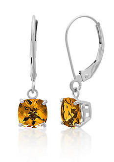 Belk & Co. 10k White Gold Citrine Earrings