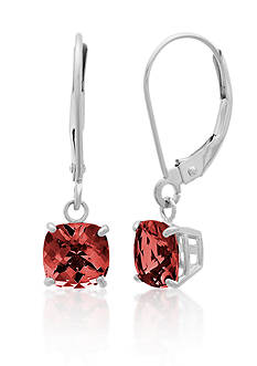 Belk & Co. 10k White Gold Garnet Earrings