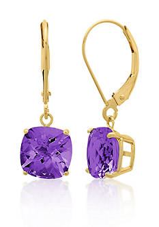 Belk & Co. 10k Yellow Gold Amethyst Earrings