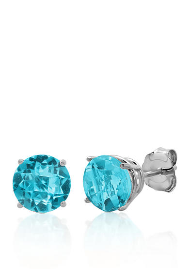 Belk & Co. 10k White Gold Blue Topaz Stud Earrings