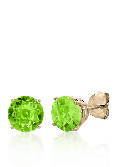 Belk & Co. 10k Yellow Gold Peridot Stud Earrings