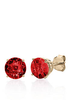 Belk & Co. 10k Rose Gold Garnet Stud Earrings
