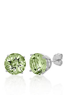 Belk & Co. 10k White Gold Green Amethyst Stud Earrings