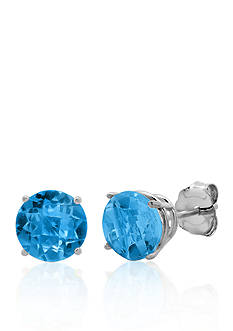 Belk & Co. 10k White Gold London Blue Topaz Stud Earrings