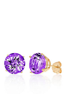 Belk & Co. 10k Yellow Gold Amethyst Stud Earrings