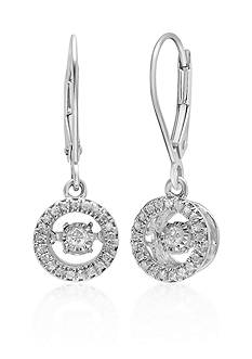 Move My Heart Diamond Drop Earrings in 10k White Gold