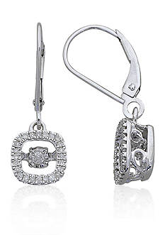 Move My Heart Moving Diamond Earrings set in 10k White Gold