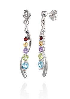 Belk & Co. Sterling Silver Multi Gemstone Journey Earrings