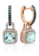 Belk & Co. Aquamarine, Blue Diamond, and White