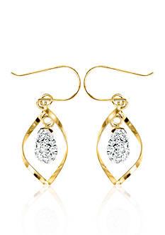Belk & Co. Swarovski Crystal Earrings in 10k Yellow Gold