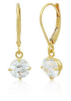 Belk & Co. Cubic Zirconia Earrings in 14k Yellow Gold