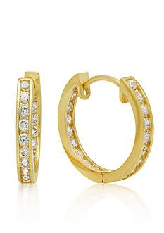 Belk & Co. Cubic Zirconia Inside/Out Earrings in 14k Yellow Gold