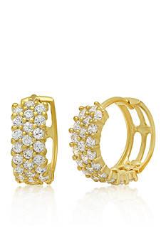 Belk & Co. Cubic Zirconia Earrings in 14k Yellow Gold