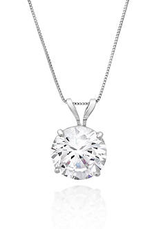 Belk & Co. 14k White Gold 8mm Cubic Zirconia Pendant