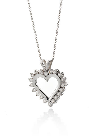 Belk & Co. Diamond Heart Pendant in Sterling Silver