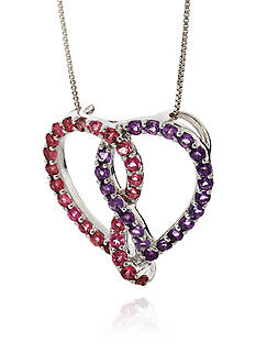 Belk & Co. Silver Multi Gemstone Heart Pendant