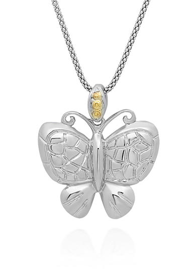 Belk & Co. 14k Yellow Gold and Sterling Silver Butterfly Pendant