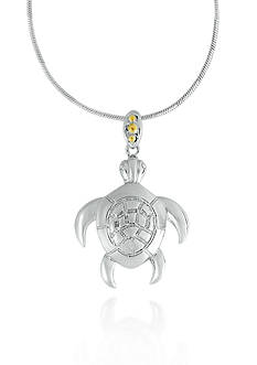 Belk & Co. Sterling Silver with 14k Yellow Gold Turtle Pendant