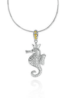 Belk & Co. Sterling Silver with 14k Yellow Gold Seahorse Pendant