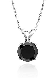 Belk & Co. 1.50 ct. t.w. Black Diamond Solitaire Pendant in 14k White Gold