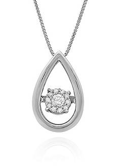 Move My Heart Moving Diamond Pendant in Sterling Silver